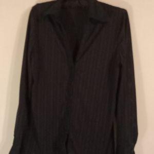 NY & Company Navy Blue stretchy blouse